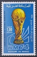 Marokko Morocco 1974 Sport Fußball Football Soccer Weltmeisterschaft FIFA-World-Cup Deutschland Germany, Mi. 776 ** - Marokko (1956-...)