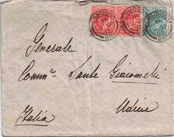 Busta Con Lettera Contenuta Da  Figlio ( In  UK ) A Generale Sante Giacomelli ( Udine  ) Viaggiata 1902 - Storia Postale
