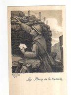 Illustrateur BREVAL 1916,Les Fleurs De La Tranchee,militaire,oeuvre Du Soldat Ardennais Paris - Militaria