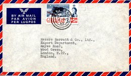 GIBRALTAR. N°149 De 1960-6 Sur Enveloppe Ayant Circulé. Le Rocher. - Gibraltar