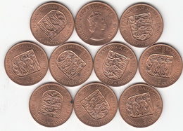 Jersey 1d Coin 1066-1966 Penny (x 10) Uncirculated - Jersey