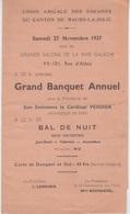 MENU 1937 - BANQUET ANNUEL De UNION AMICALE DES ENFANTS De MAURS LA JOLIE - Menus