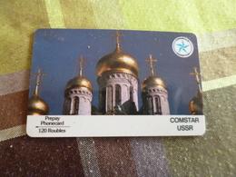 Télécarte Russe Russia Pré Payée 120 Roubles Comstar - Russie