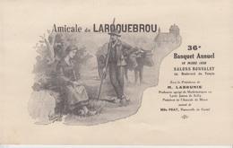 MENU 1939 - BANQUET ANNUEL De L'AMICALE DE LAROQUEBROU - Menus