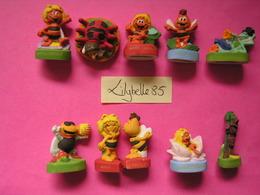 Série Complète De 10 Fèves Mates En Porcelaine - MAYA L' ABEILLE 2008 ( Feve Miniature Figurine ) - Cartoons