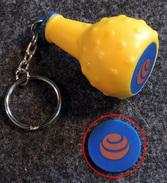 Amusante Bouteille ORANGINA Comprenant Un Jeton De Caddie Plastique Simple Face à Sa Base - Trolley Token/Shopping Trolley Chip