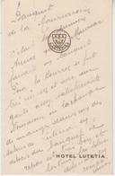 MENU 1939 - BANQUET ANNUEL De La VILLE De MAURIAC à L'HOTEL LUTETIA - Menus