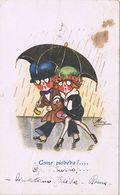 """ Come Pioveva !....""  Viaggiata 1921 - Couples"