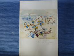 Lithographie Signée Et Dédicacée Par André Raffin - 1983 - 62 X 43 Cm - Lithographies