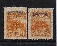 Nicaragua 1892, 5 And 10 Pesos, Minr 29-30, Mlh - Nicaragua