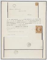 Guebwiller 1855 Napoléon 10c. PC 1460  Faire Part De Décès Généalogie Bourcart - Postmark Collection (Covers)