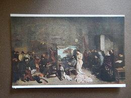 CPA - GUSTAVE COURBET - DANS L'ATELIER DU PEINTRE - MUSEE DU LOUVRE - ECOLE FRANCAISE -  R14434 - Pittura & Quadri