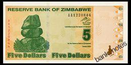 ZIMBABWE 5 DOLLARS 2009 Pick 93 Unc - Zimbabwe