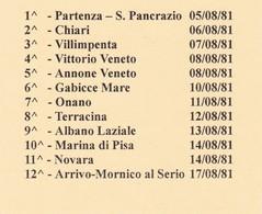 ITALIA MARCOFILIA 7° MARCIA DELLA SOLIDARIETA AVIS-AIDO=VITA PER LA VITA 1981 GIRO COMPLETO 12 CARTOLINE POSTALI - 6. 1946-.. Republic