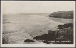 Incoming Tide, Perranporth, Cornwall, C.1930s - Milton Series RP Postcard - England
