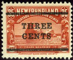 Newfoundland. Scott #130. Unused. Raised 'E' - Newfoundland