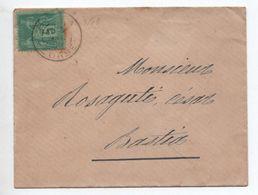 ENVELOPPE LOCALE De BASTIA (CORSE) Avec TYPE SAGE - Marcophilie (Lettres)