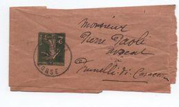 BANDE JOURNAL TYPE SEMEUSE 2c De BASTIA (CORSE) - Marcophilie (Lettres)