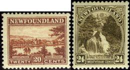 Newfoundland. Scott #143-144. Two Unused Stamps. F-VF. - Newfoundland