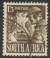 South Africa 1941. 1s3d Olive-brown. SACC 103. SG 94. - Gebruikt