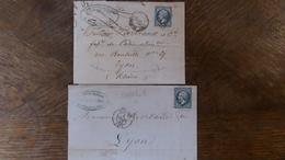 A Voir!    2 LAC Avec N°22 A Voir Pour GC Ou Variétés,voir Photos - 1862 Napoleon III