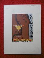 CHAMPAGNE MOET ET CHANDON MENU 1933 AUTOGRAPHES - Menus