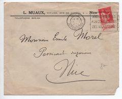 1935 - ENVELOPPE De NICE Avec BANDE PUB L'ART VIVANT TYPE PAIX - Carnets