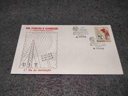 PORTUGAL SAO TOMÉ ST. THOMAS PRINCE FDC OFFICIAL CENTENARIO UIT 1965 - St. Thomas & Prince