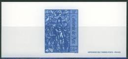 GRA3498 Vitrail De Chagall Eve Et Le Serpent Cathedrale De Metz 3498 France 2002 Gravure Officielle - Cristianismo
