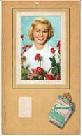 PUBLICITE CIGARETTES SUPERMINT MENTOL CARK TIPPED  - PIN UP  ( Photo Collée ) Plaque En Carton - Paperboard Signs