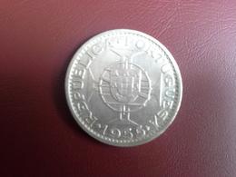Portugal Colonia Moçambique 20 Escudos 1955    Silver , Prata Ag.720  10gr. - Portugal