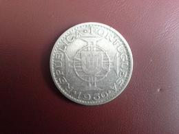 Portugal Colonia Moçambique 20 Escudos 1960    Silver , Prata Ag.720  10gr. - Portugal
