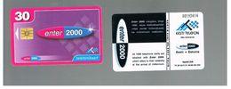ESTONIA -  EESTI TELEFON  -   1999 ENTER 2000         - USED - RIF.10567 - Estonia