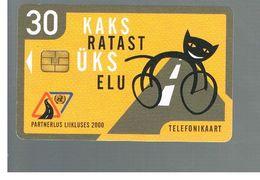 ESTONIA -  EESTI TELEFON  -    2000 TRAFFIC HARMLESSNESS         -  USED - RIF.10570 - Estonia