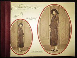 1923 BROCHURE PUBLICITAIRE ** FOURRURES WOLF BRUXELLES ** - 10 PAGES + PRIX -- PUBLICITE - PUBLICITY - MODE - Publicités