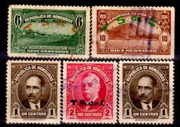 Honduras-0031 - 1931: Valori Della Serie Y&T N. 228-236 (+/o) Hinged/Used - - Honduras