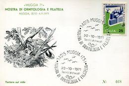 32786 Italia Special Postmark 1971 Muggia Trieste Mostra Di Ornitologia - Vögel