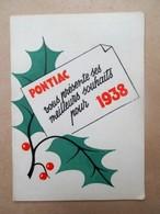 Kalender 1938  PONTIAC - Calendars