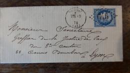 A Voir!     LAC    De Brissac A Voir!!!!!avec N°60    Et Voir Photos , - 1871-1875 Cérès