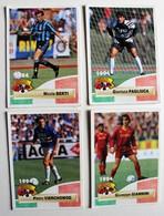 4 Carte PANINI 1994 Italie Giannini Pagliuca Vierchowod Berti Joueurs Italiens - Panini