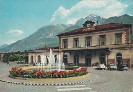 192320Aosta, Stazione E Sfondo M. Pila (little Crease Corners) - Italia