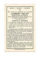 D 142. LAMBERT DELAIT - Organist Kerk Veldwezelt/Lid Bond Oud-Retraiten - VELDWEZELT 1876 / 1912 - Images Religieuses