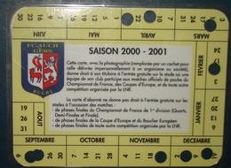 F.C AUCH.Carte Societaire Saison 2000 - 2001. - Rugby