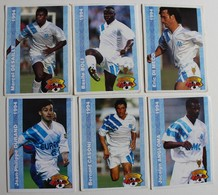 12 Carte PANINI FOOT CARDS 1994 Marseille OM Barthez Desailly Boli Di Meco Durand Boksic  Voller Futre - Panini