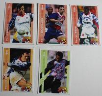 10 Carte PANINI FOOT CARDS 1994 PARIS PSG Ginola Weah Roche Gravelaine Kombouare Lama - Panini