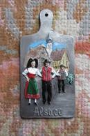 PLAQUE ETAIN - ALSACE - Miniatures Décoratives