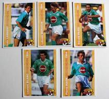 9 Carte PANINI FOOT CARDS 1994 Saint Etienne ASSE Laurent Blanc Passi Mendy Katendeuch Moravcik - Panini
