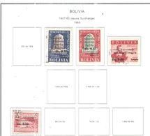 Bolivia PO 1966 1957/60 Surch.Scott.483+484+485+488++ See Scan On Scott.Page - Bolivia