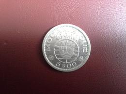 Portugal Colonia  Moçambique 5 Escudos 1960    Silver , Prata Ag.600    4gr. - Portugal