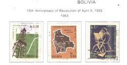 Bolivia PO 1963 10 Ann. Rev.1952 Scott.472/474+ See Scan On Scott.Page - Bolivia
